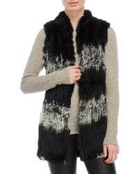 Love Token - Real Fur Longline Vest - Lyst