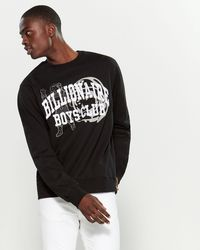 BBCICECREAM Athletic Crew Neck Sweatshirt - Black