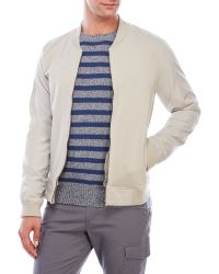 Color Siete - Mixed Media Bomber Jacket - Lyst