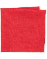 Burma Bibas Solid Pocket Square - Red