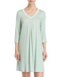 Ellen Tracy - Three-quarter Sleeve Nightgown - Lyst