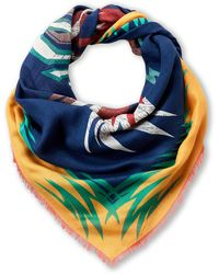 Givenchy Mustard Save Our Souls Cashmere Shawl - Blue