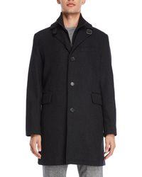 Cole Haan - Wool-blend Bibbed Topper Coat - Lyst