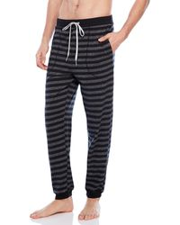 Kenneth Cole Striped Pajama Pants - Gray