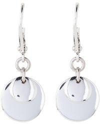 Lauren by Ralph Lauren - Silver-tone Double Disc Drop Earrings - Lyst