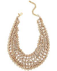Kenneth Jay Lane - Gold-tone Chain Link Bib Necklace - Lyst