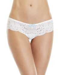 dc5f16f84a8a Triumph Forbidden Lace Thong in Natural - Lyst