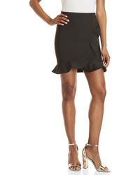 Wow Couture - Wrapped Ruffle Mini Skirt - Lyst