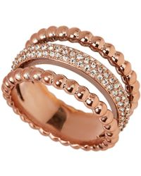 Swarovski - Rose Gold-tone Click Ring Size 8.25 - Lyst