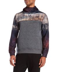STONEFEATHER - Printed Color Block Hoodie - Lyst