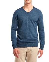 Forte - Cashmere Rolled V-Neck Sweater - Lyst
