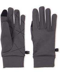 Spyder Charcoal & Black Stretch Fleece Gloves