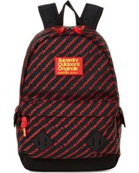 Superdry Black & Red Moto Montana Backpack