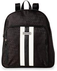 Nautica Lakeside Monogram Backpack - Black