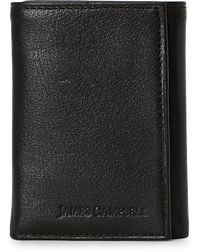 James Campbell - Brown Italian Leather Tri-Fold Wallet - Lyst