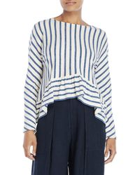 Max 'n Chester - Cropped Ruffle Top - Lyst