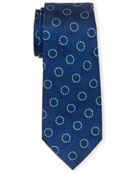 Armani Blue Circle Silk Tie
