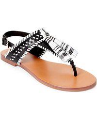 Vince Camuto - Rebeka Tasseled Flat T-strap Sandals - Lyst