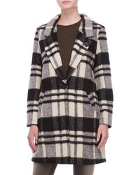 Scotch & Soda - Plaid Bonded Wool Coat - Lyst