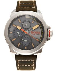 BOSS Orange - 1513318 Silver-Tone & Olive Watch - Lyst