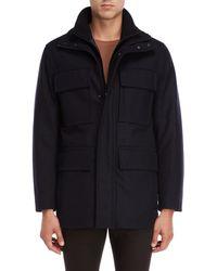 Marc New York - Wool Bevy Bibbed Coat - Lyst
