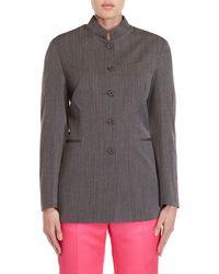 Ter Et Bantine - Grey Stripe Jacket - Lyst