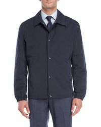Cole Haan - Navy Short Rain Jacket - Lyst