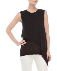 Derek Lam - Black Asymmetrical Sleeveless Knit Tunic - Lyst