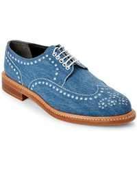 Robert Clergerie - Roeld Denim Brogue Oxfords - Lyst