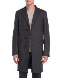Jil Sander - Charcoal Hidden Button Coat - Lyst