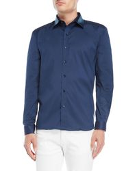 Bolongaro Trevor - Denim Collar Sport Shirt - Lyst