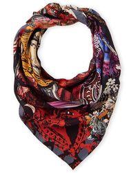 Christian Lacroix Silk Paisley Floral Scarf - Multicolor