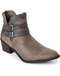 MIA - Grey Henrietta Pointed Toe Ankle Boots - Lyst