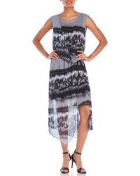 D'deMOO - Tie-Dye Chiffon Asymmetrical Dress - Lyst