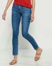 AG Jeans Hiatus The Stilt Cigarette Leg Jeans - Blue