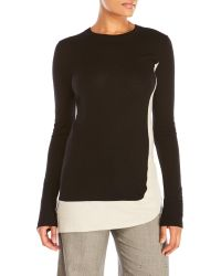 Sharon Wauchob - Color Block Wool Tunic Sweater - Lyst