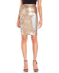 Mr & Mrs Italy - Scaled Sequin Knee-Length Skirt - Lyst