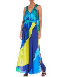 Leonard - Printed Silk Jumpsuit - Lyst