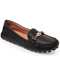 COACH - Black Arlene Leather Driving Loafers - Lyst