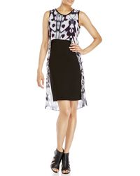Zelda - Petite Sleeveless Sheer-Overlay Dress - Lyst
