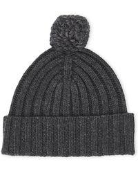 814cf53ff8e Lyst - UGG Men s Ribbed-knit Pom-pom Beanie - Charcoal in Black for Men