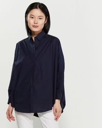 French Connection Rhodes Long Sleeve Poplin Shirt - Blue
