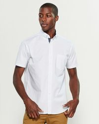 Con.struct - Square Dotted Slim Fit Short Sleeve Stretch Shirt - Lyst