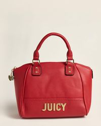 Juicy Couture Cherry Blank Check Satchel - Red