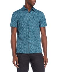 Perry Ellis - Puzzle Slim Fit Stretch Shirt - Lyst