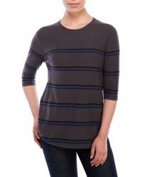 Vkoo - Double Stripe Sweater - Lyst