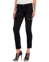 Eunina - Sasha Low-Rise Relaxed Skinny Crop Jeans - Lyst