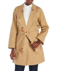Endless Rose - Floral Embroidered Trench Coat - Lyst