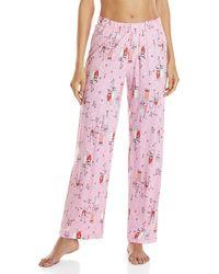 Hue - Pink Printed Pajama Pants - Lyst