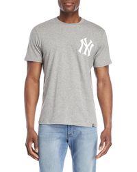 47 Brand - New York Yankees Logo Chest Tee - Lyst